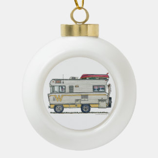 Winnebago Camper RV Apparel Ceramic Ball Christmas Ornament