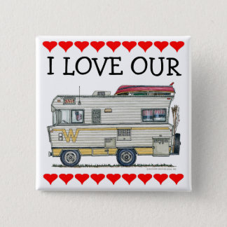 Winnebago Camper RV Apparel Pinback Button