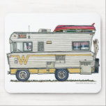 """Winnebago Camper RV Mouse Pad<br><div class=""""desc"""">&quot;Bless those that see the world from the windows of an RV! Like the rugged, stalwart folks that crossed the continent in covered wagons, these individuals today settle in every nook and crany of this great land. RVer hearts are as big as the outdoors and as warm as the campfires...</div>"""