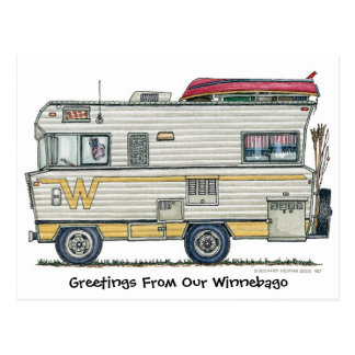 Winnebago Camper RV Post Cards