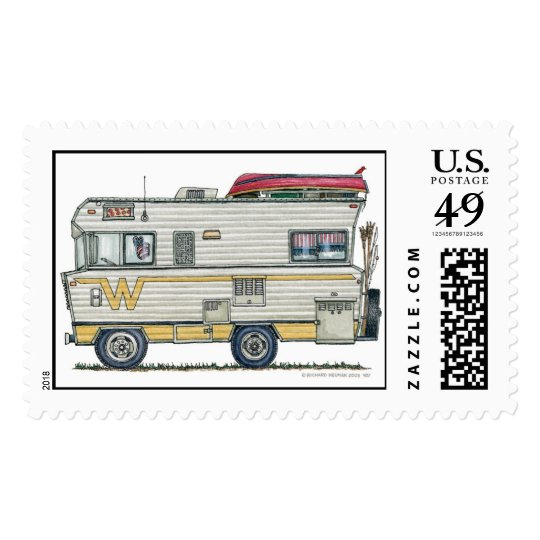 Winnebago Camper RV Stamps