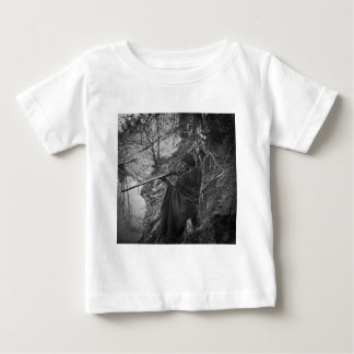 Winnebago Indian Chief Duck Hunting Grayscale Infant T-shirt