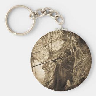Winnebago Indian Chief Duck Hunting Keychain