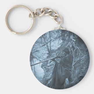 Winnebago Indian Chief Hunting Keychain