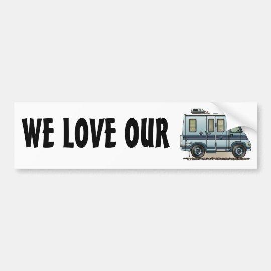 Winnebago lasharo camper rv bumper sticker