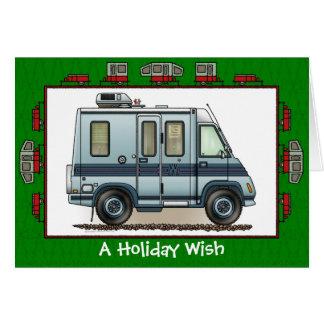 Winnebago Lasharo Camper RV Holiday Wish Greeting Card