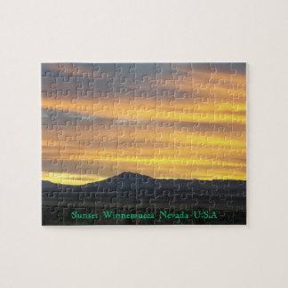 Winnemucca Nevada sunset seen Puzzles