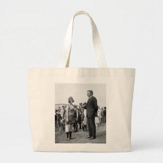 Winner at the Beach, 1920s Large Tote Bag
