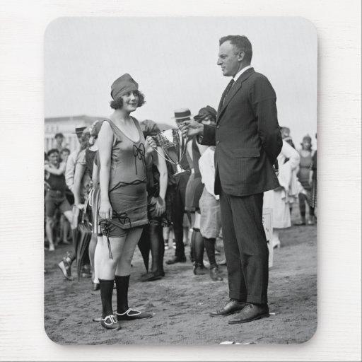 Winner at the Beach, 1920s Mousepad