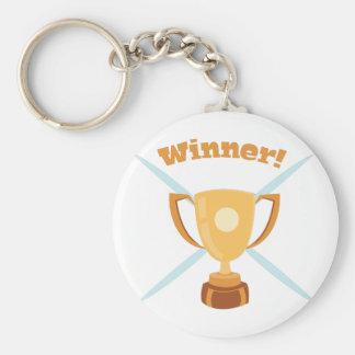 Winner Basic Round Button Keychain