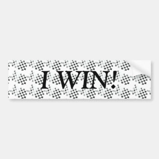 WINNER Checkered Flag Bumper Sticker