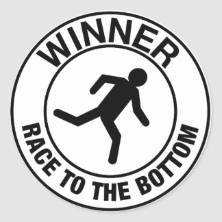 Winner Classic Round Sticker