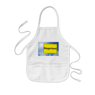 Winner country sign with sky background kids' apron