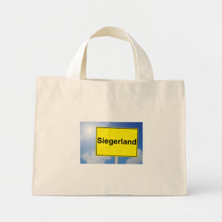 Winner country sign with sky background mini tote bag