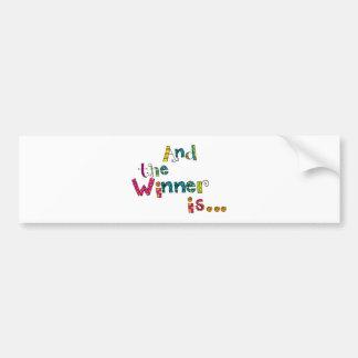Winner Doodle Bumper Sticker