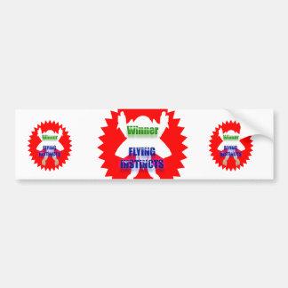 WINNER - Flying Instincts Bumper Sticker