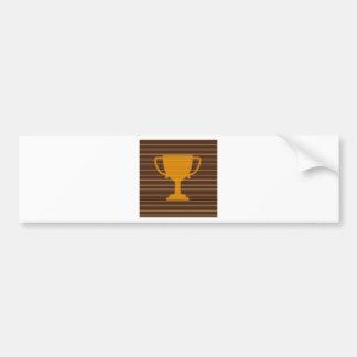 Winner Godl TROPHY template diy add TEXT GREETINGS Bumper Sticker