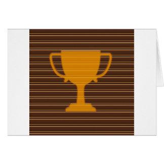 Winner Godl TROPHY template diy add TEXT GREETINGS Card