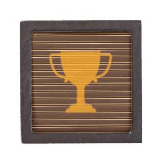 Winner Godl TROPHY template diy add TEXT GREETINGS Gift Box