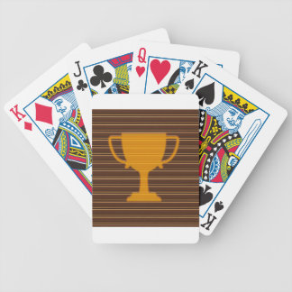 Winner Godl TROPHY template diy add TEXT GREETINGS Bicycle Playing Cards