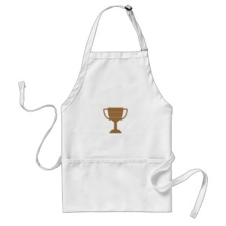 Winner Gold Trophy  TEMPLATE add TEXT GREETING Adult Apron