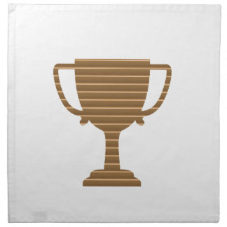 Winner Gold Trophy  TEMPLATE add TEXT GREETING Cloth Napkin