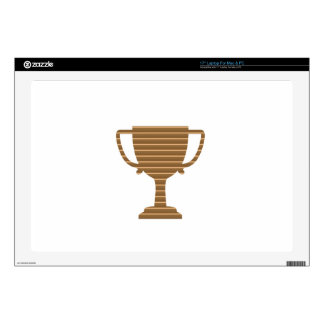 Winner Gold Trophy  TEMPLATE add TEXT GREETING Laptop Skin