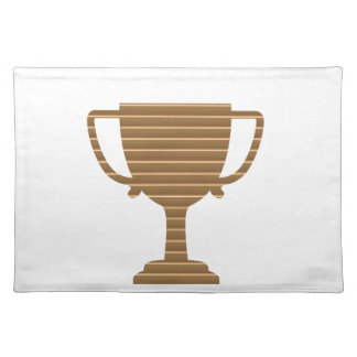 Winner Gold Trophy  TEMPLATE add TEXT GREETING Placemat