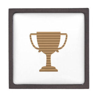 Winner Gold Trophy  TEMPLATE add TEXT GREETING Premium Trinket Boxes