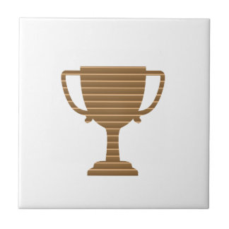 Winner Gold Trophy  TEMPLATE add TEXT GREETING Tile