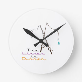 Winner Is Dinner Wall Clock