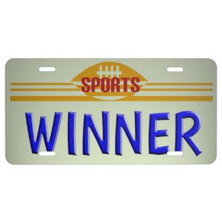 Winner License License Plate