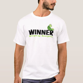 Winner Never Give Up Never Give In Turtle T-shirt
