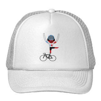 winner of the race trucker hat
