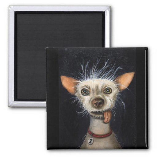 Winner of the Ugly Dog Contest 2011 2 Inch Square Magnet