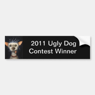 Winner of the Ugly Dog Contest 2011 Bumper Sticker