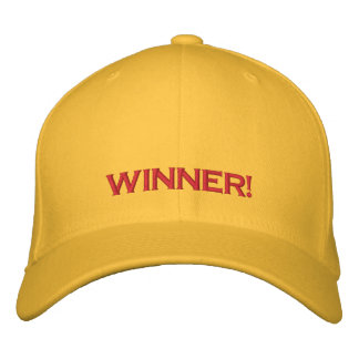 """""""WINNER!"""", PC GAME PLAYER CAP EMBROIDERED BASEBALL CAPS"""