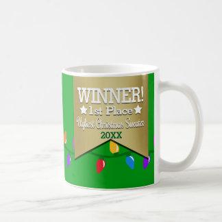 WINNER Prize Ugly Christmas Sweater Pattern Mug