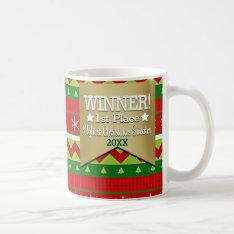 Winner Prize Ugly Christmas Sweater Pattern Mug at Zazzle