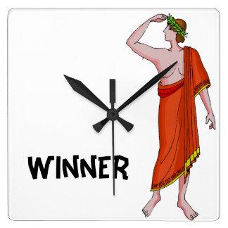Winner Square Wall Clock