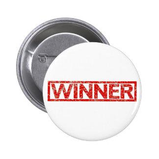 Winner Stamp Pinback Button