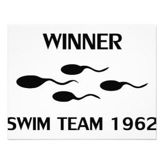 winner swim team 1962 icon custom invite