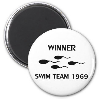 winner swim team 1969 icon magnet