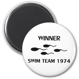 winner swim team 1974 icon magnet