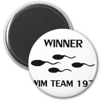 winner swim team 1976 icon magnet