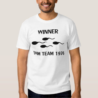 winner swim team 1976 icon t-shirts
