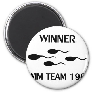 winner swim team 1980 icon magnet