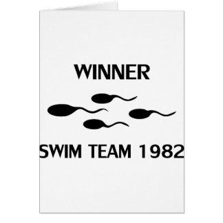 winner swim team 1982 icon card
