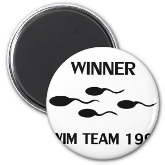 winner swim team 1995 icon magnet