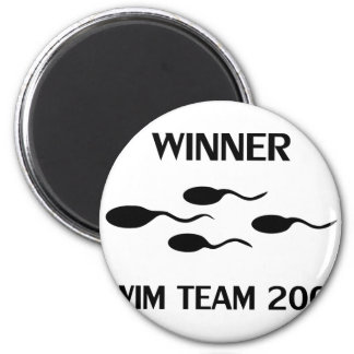 winner swim team 2005 icon magnet